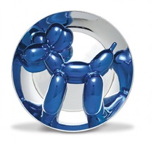 blue balloon dog by jeff koons