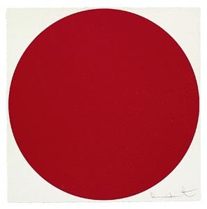 rot. von farblichen akzenten zur monochromie by damien hirst
