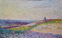 paysage à herblay by maximilien luce