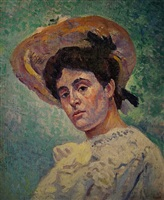 portrait of philiberte givort by maximilien luce