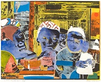 12 trains - daybreak express by romare bearden