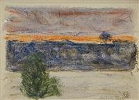 hudson river by oscar florianus bluemner