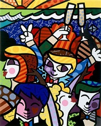 celebration by romero britto