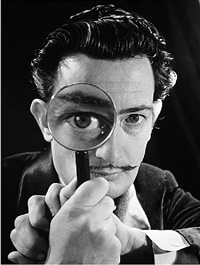 spanish painter salvador dali by philippe halsman