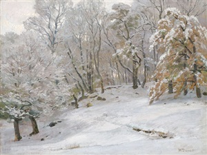 winterlandschaft by hugo darnaut