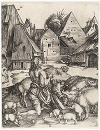 the prodigal son amid the swine by albrecht dürer