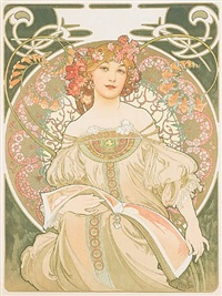 reverie by alphonse mucha