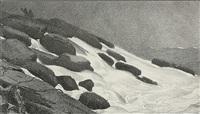 sea and rocks at prouts neck by winslow homer