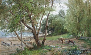 beach at beverly farms, cape ann, massachusetts by william trost richards