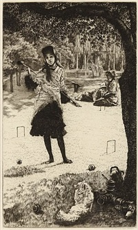 le croquet by james jacques joseph tissot