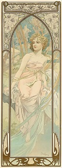 éveil du matin (morning awakening) by alphonse mucha