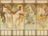 les saisons (the seasons) by alphonse mucha