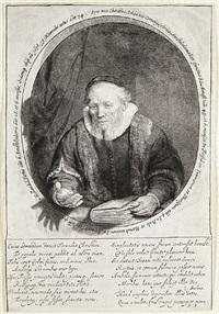 jan cornelis sylvius, preacher by rembrandt van rijn
