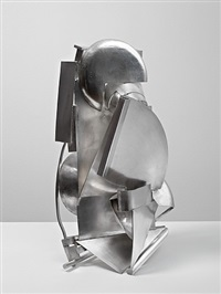 silver piece 19 (mirror view) by sir anthony caro