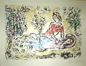 les amoureux sous l'arbre by marc chagall
