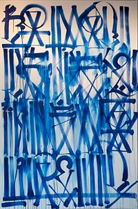 untitled (white and blue) by retna