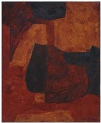 composition orange, verte et rouge by serge poliakoff
