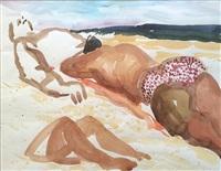 beach scene by malcolm morley