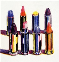 eight lipsticks by wayne thiebaud