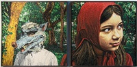 red series (diptych) by mondongo