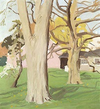 trees in bloom by fairfield porter