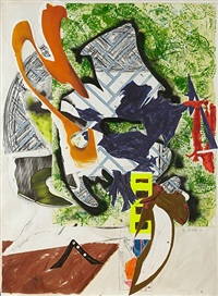 ahab's leg (from the wave series) by frank stella