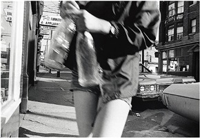 the girl with eight sections. april, 1973. by mark cohen