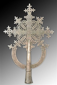 coptic christian processional cross by unknown