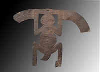 benin scorpion emblem african art by unknown