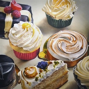 small & cup cakes by ben schonzeit
