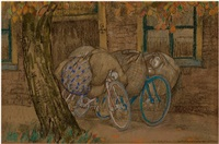 two bikes in front of an inn by leo gestel