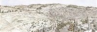 jerusalem, kidron valley by philip pearlstein