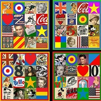 source of art - set of 4 by peter blake