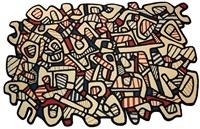 tapis no.2 (fasc. xxxi, ill no. 7) by jean dubuffet