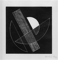 untitled (half circles with diagonal rectangle) by lászló moholy-nagy