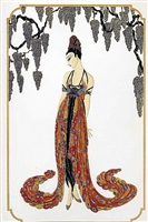feather gown by erté