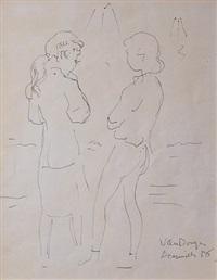 deux filles a deauville by kees van dongen
