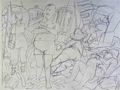art karlsruhe, karlsruhe, germany by george grosz