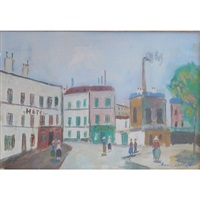 the factories / les usines by maurice utrillo