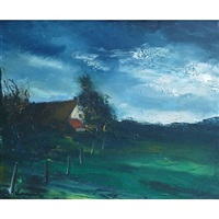 landscape in normandy by maurice de vlaminck
