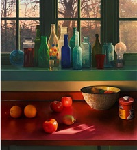 bottles in kitchen window by scott prior