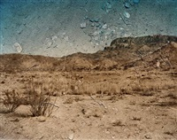 tent camera obscura, view looking southeast toward the chisos mountains. big bend national park, texas by abelardo morell