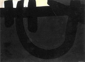 peinture 8 août 1974 by pierre soulages