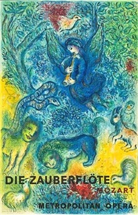 die zauberflote (the magic flute) by marc chagall