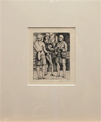 three women shoppers by kenneth hayes miller