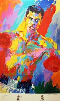 muhammad ali - athlete of the century by leroy neiman