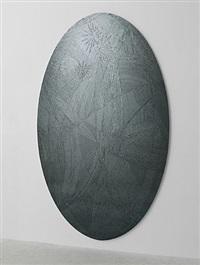 untitled (grey ellipse) by jim hodges