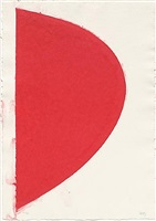 colored paper image iv (red curve) by ellsworth kelly
