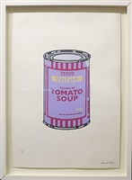 soup can violet/beige by banksy