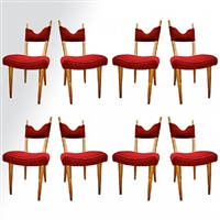 "set of 8 dinning chairs model ""baltic""/série de 8 chaises modèle"